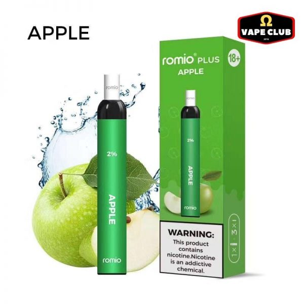Romio Plus Apple Ice - Vape Pod dùng 1 lần
